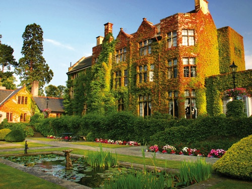 Pennyhill Park Surrey UK - main meeting room for 100 max cabaret style, 200 theatre style with front projection plus 7 smaller breakout rooms. 5 star luxury with spa (Bagshot, Surrey)