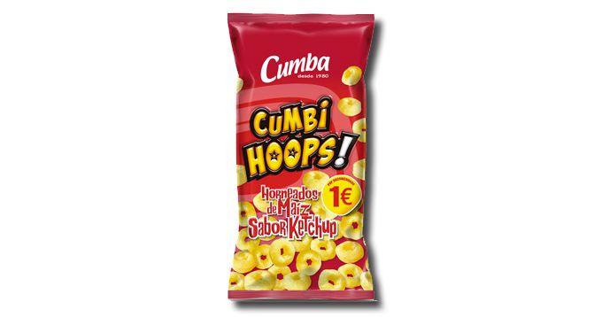 Cumbihoops Kétchup, de Cumba: Anillo de maíz horneado con sabor a kétchup.