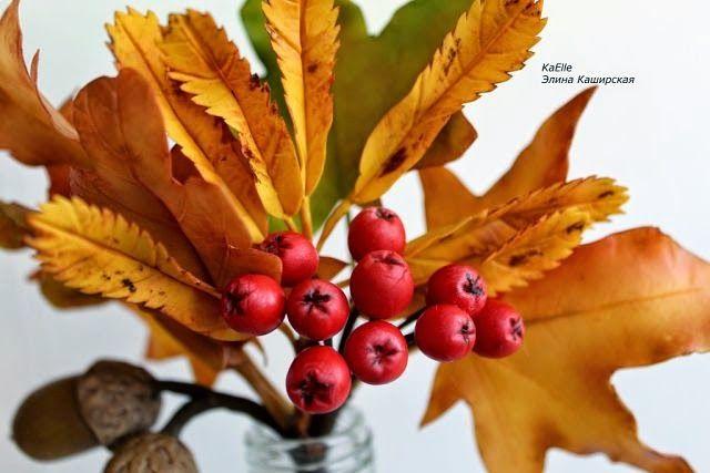 """Школа лепки из полимерной японской глины claycraft by deco """"7лепестков"""": Как прекрасны осенние букеты из листвы,жаль в наши..."""