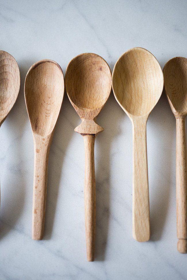 These handcrafted wood spoons are naturally antibacterial and safe for everyday use in the kitchen. Each set of 3 are slightly different in spoon size and design. T