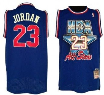 NBA 1992-1993 All-Star #23 Michael Jordan Blue Swingman Throwback Jersey -.  Basketball ...