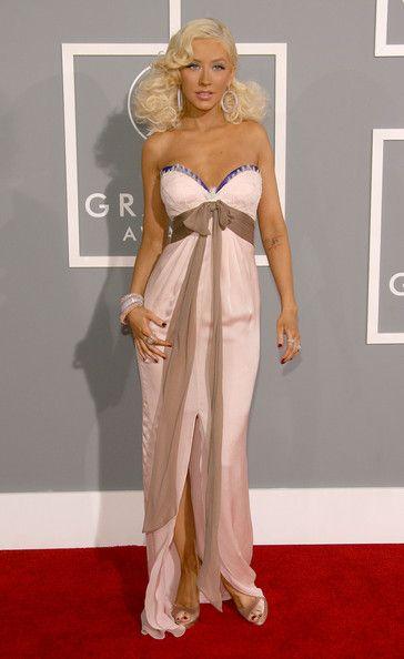 Christina Aguilera Strapless Dress Christina Aguilera