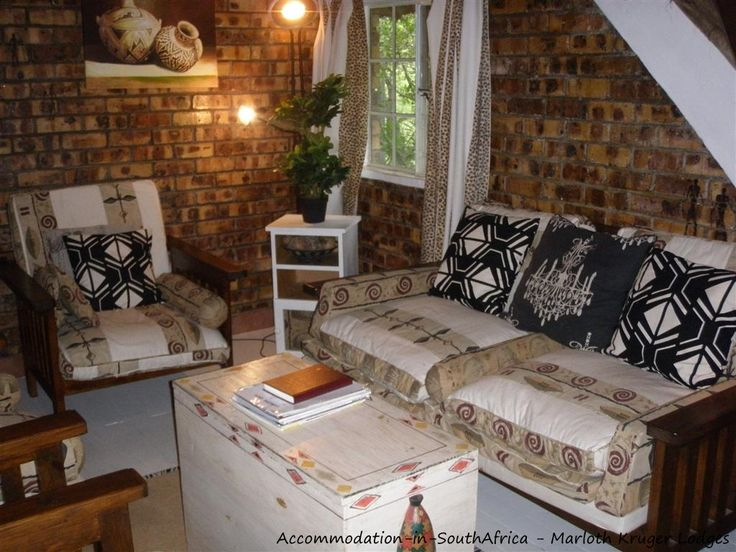 Beautiful furnished accommodation at Marloth Kruger Lodges.