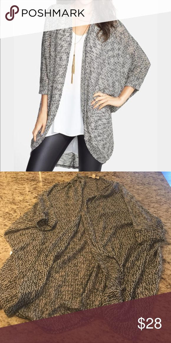 Black and White Knit Slouchy Cardigan From Nordstrom. Black and white stitching. Soft light weight knit fabric. Very comfortable Nordstrom Sweaters Cardigans