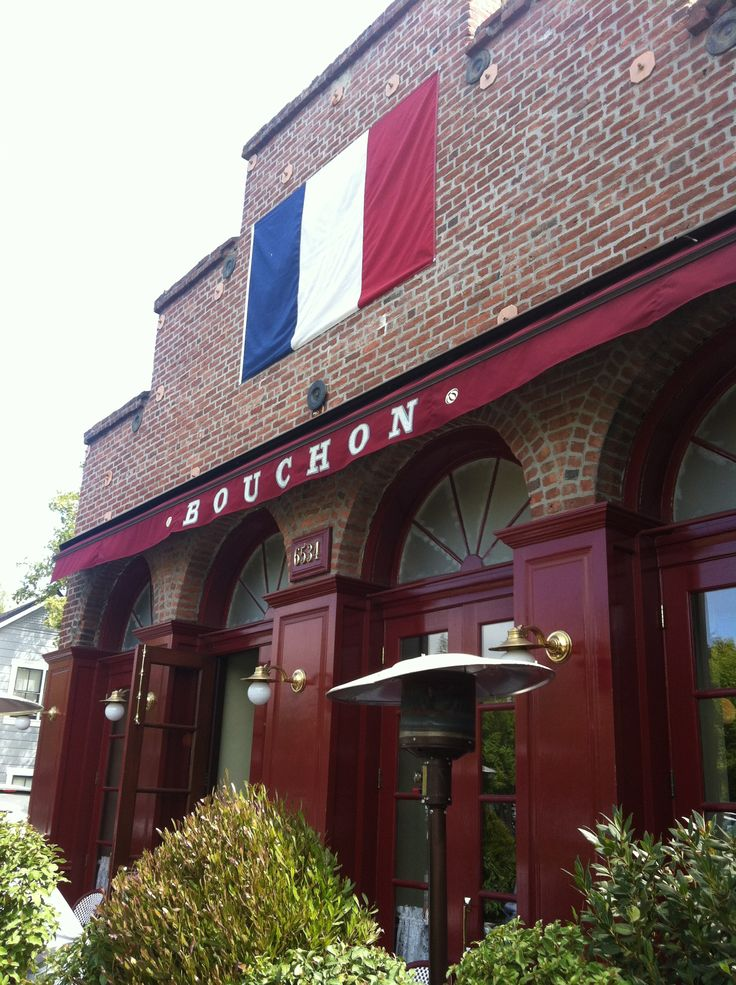 The lovely little French bistro that is Bouchon, Napa Valley.
