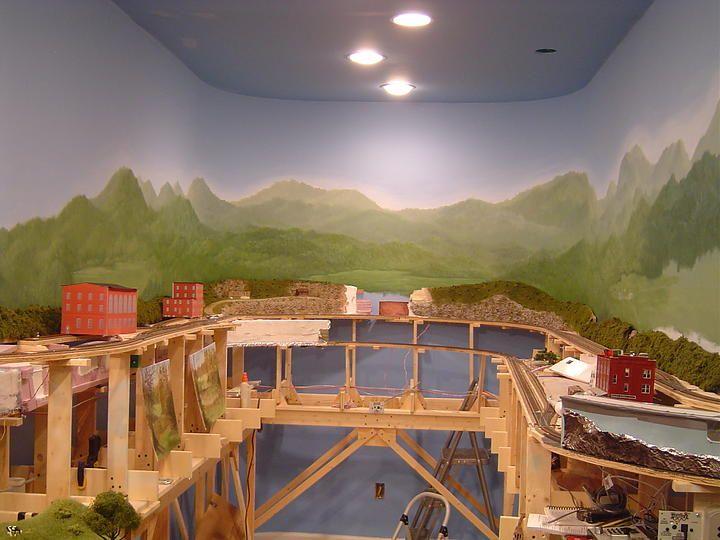 1000 images about model train backdrops on pinterest - Model railroad backdrops ...