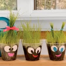 diy grass idea for fathers day or spring