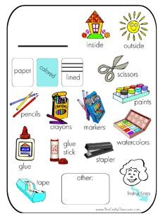 Busy Bag Printable Tags!  Circle what your child needs beforehand and let them collect their tools!