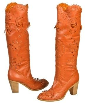 Anna Sui Leather Laser Cut Rosette (size 39) Orange Boots. Get the must-have boots of this season! These Anna Sui Leather Laser Cut Rosette (size 39) Orange Boots are a top 10 member favorite on Tradesy. Save on yours before they're sold out!