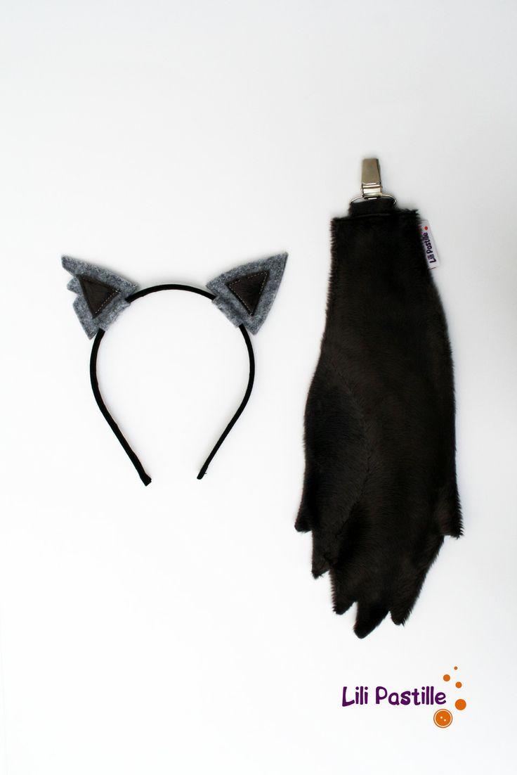 """Déguisement Loup mini-kit """"oreilles + queue"""" : Ecole et loisirs par lilipastille"""