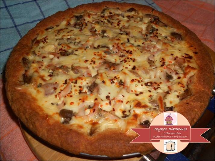 Wholemeal cream cheese mushrooms tart / glykesdiadromes.wordpress.com