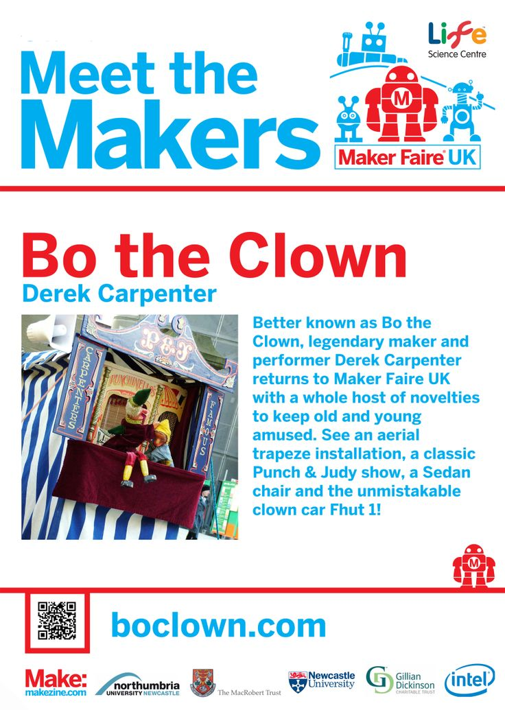 Bo the Clown at Maker Faire UK 2014