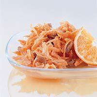 Recept - Wortelsla met mandarijn en rozijnen - Allerhande