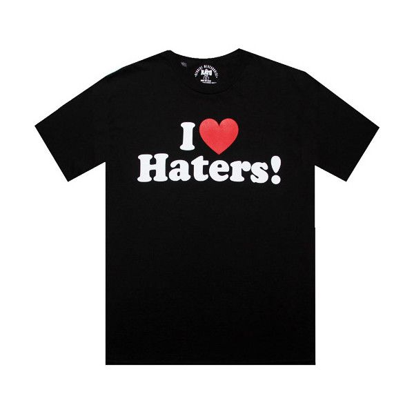 """DGK's """"I Love Haters"""" shirt via Polyvore featuring tops, dgk, i love shirts, i heart shirts, shirt tops and dgk shirts"""