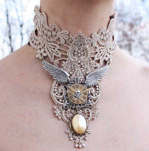 Ivory collar by ~Pinkabsinthe