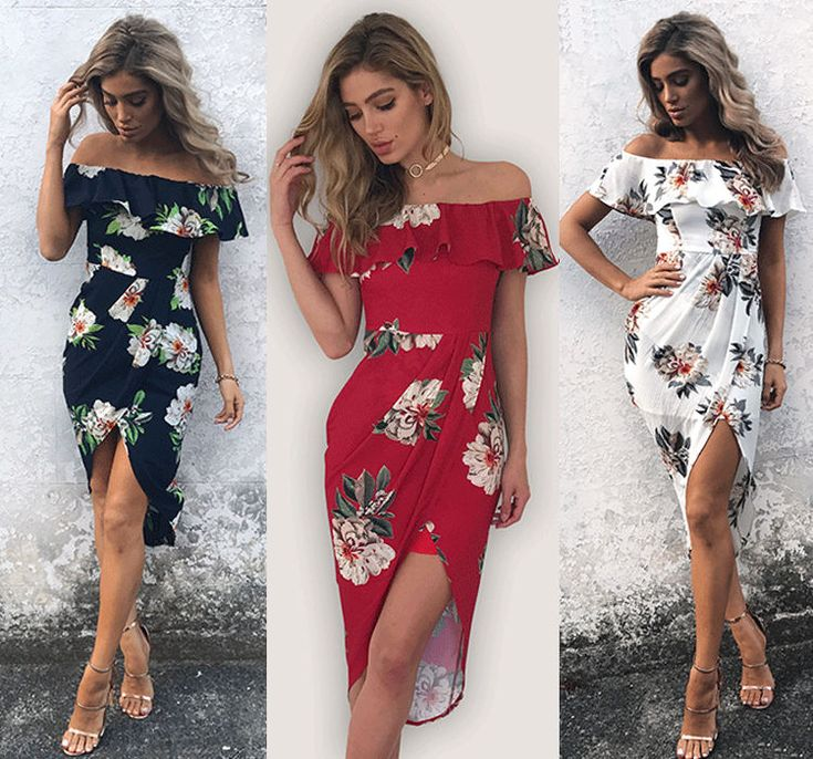 Fashion Women Summer Boho Floral Beach Dress Evening Cocktail Long Maxi Dresses #Unbranded