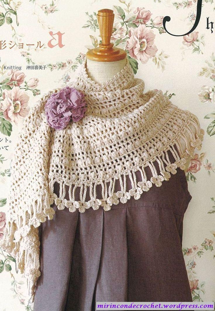 Mi Rincon de Crochet, patrón del chal de media luna!!! Half moon wrap #crochet #pattern