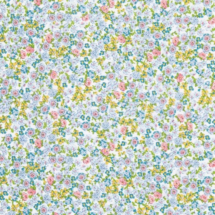 8,99€/m - Tissu coton imprimé fleurs Clara