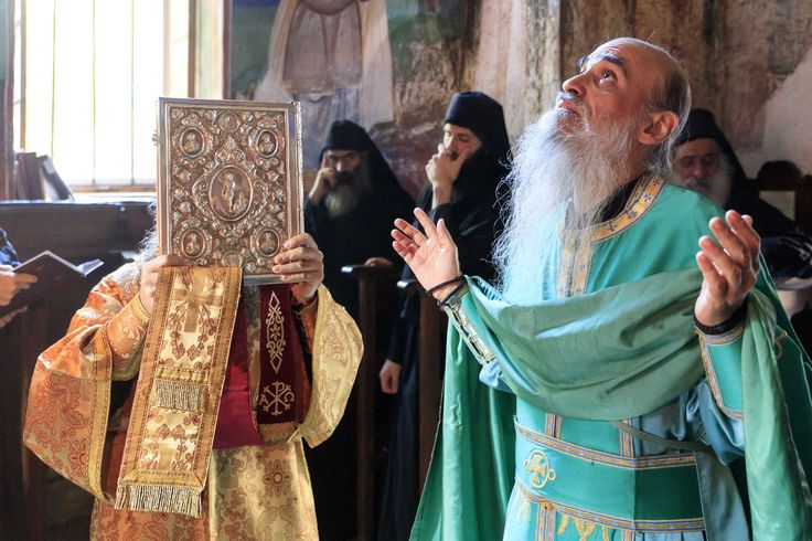 Prayer is grace. God gives it when there is zeal and humility. It depends solely on us. Based on Elder Amphilochios Makris of Patmos The photo is a candid shot from the Small Entrance of Divine Liturgy. Chapel of St. Nikolas, Vatopaidi.