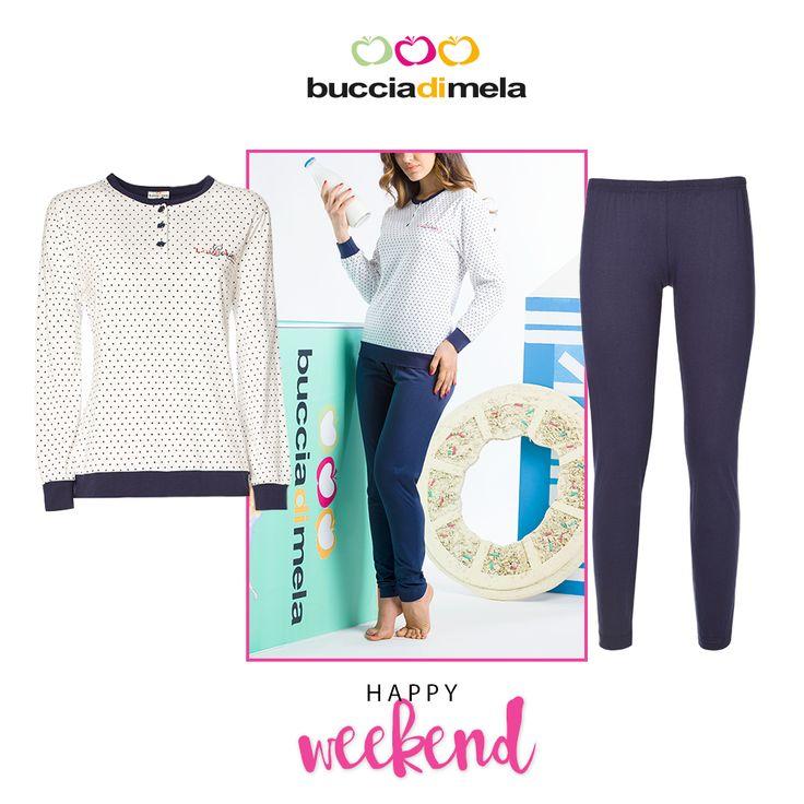 Finalmente #weekend! Vivi il #relax con lo stile dei pigiami #BucciadiMela! www.bucciadimela.it