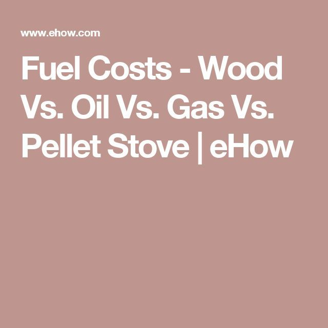 Fuel Costs - Wood Vs. Oil Vs. Gas Vs. Pellet Stove | eHow