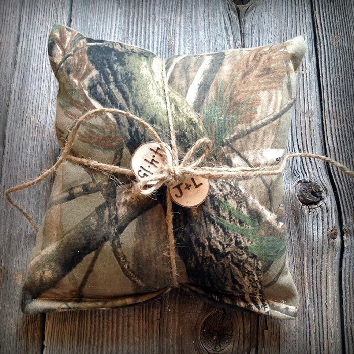 Camo Wedding Ring Bearer Pillow