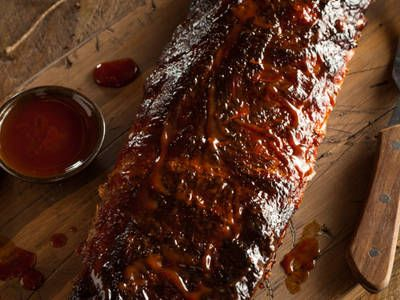 Tender And Juicy Baby Back Ribs - Oven Baked after 8 hr. marinating in BBQ sauce only.