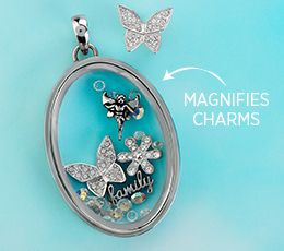 Looking Glass Locket   #origamiowl #locket #butterfly #fairy