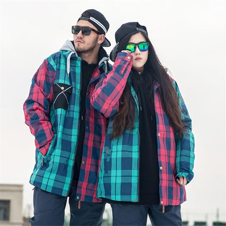Doorek 1pc Winter Women Men Ski Jacket Waterproof Windproof Warm Ski Coat Thicken Breathable Snowboard Jacket Outwear #Affiliate
