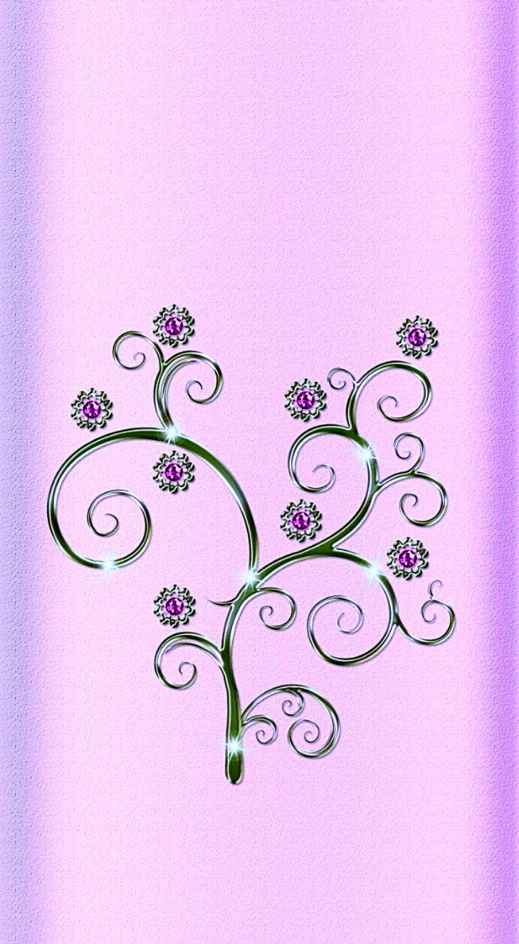 Pink Floral Wallpaper... By Artist Unknown...