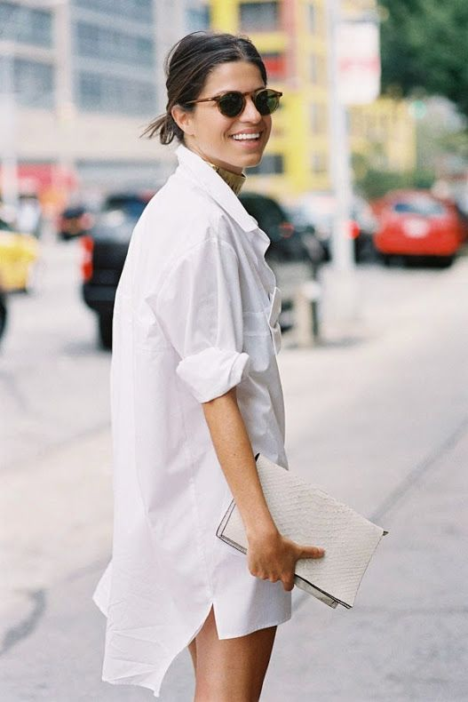 because... still love that shirt dress. Leandra in NYC. #LeandraMedine #ManRepeller