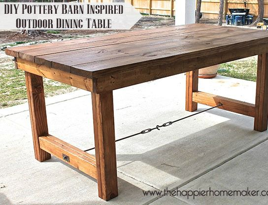 Best 25 Diy Outdoor Table Ideas On Pinterest