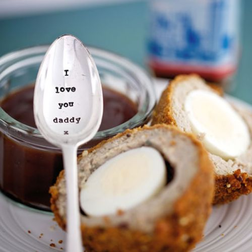 I Love You Daddy Hand Stamped Vintage Tea Spoon  From The Dotty House
