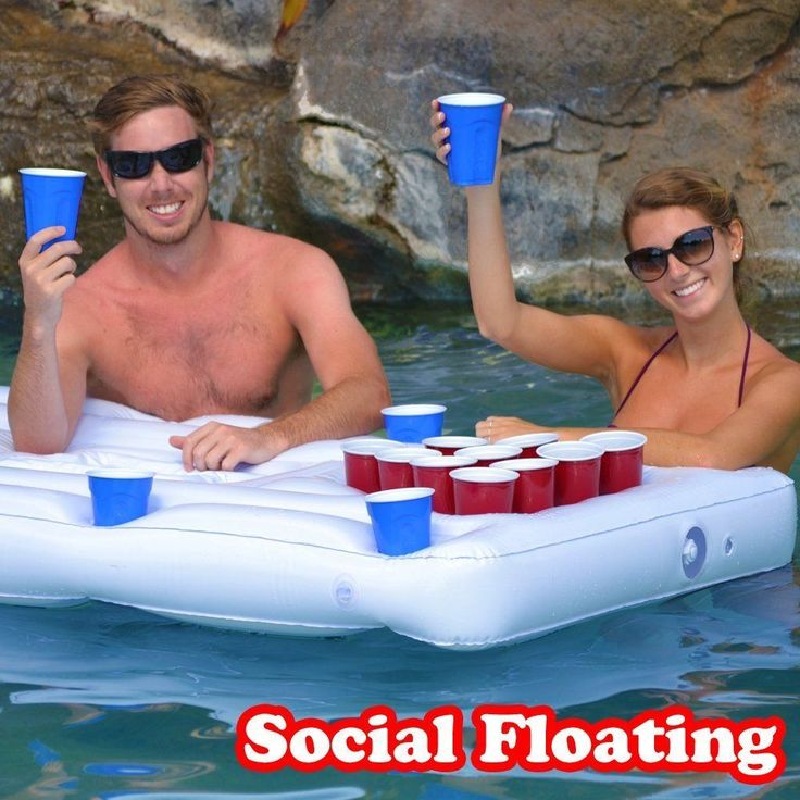 """Pool Games For Adults Inflatable Beer Pong Table Floating Party Water Games Raft. Use the coupon code """"PIN5"""" to get 5% off your entire order!"""