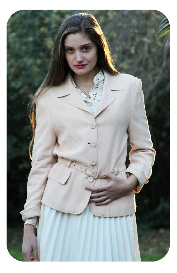 Vintage Pastel Jacket by Paco Rabanne // 90s by LaChouetteSage