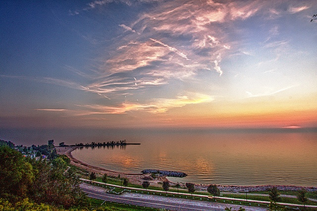 Rotary Cove at Sunset. Goderich, Ontario, Canada #Goderich #RediscoverGoderich #GoderichSunsets