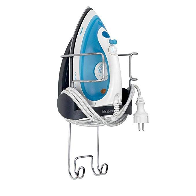 Brabantia Wall Mounted Iron Rest And Hanging Ironing Board Holder