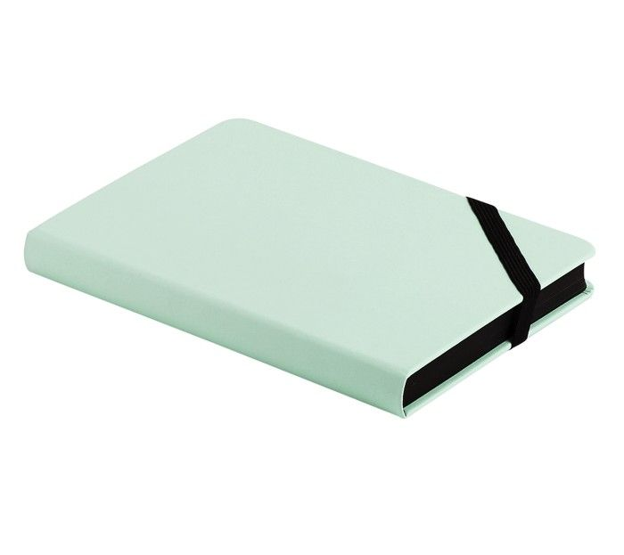 A5 BONDED LEATHER NOTEBOOK MINT: PAUSE