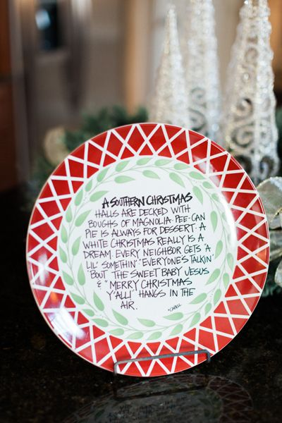 Southern Christmas plate | Jen Dillender