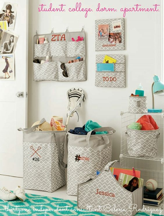 Thirty-One Gifts – Help them find a place for everything and then they can keep everything in it's place! #ThirtyOneGifts #ThirtyOne #Monogramming #Organization