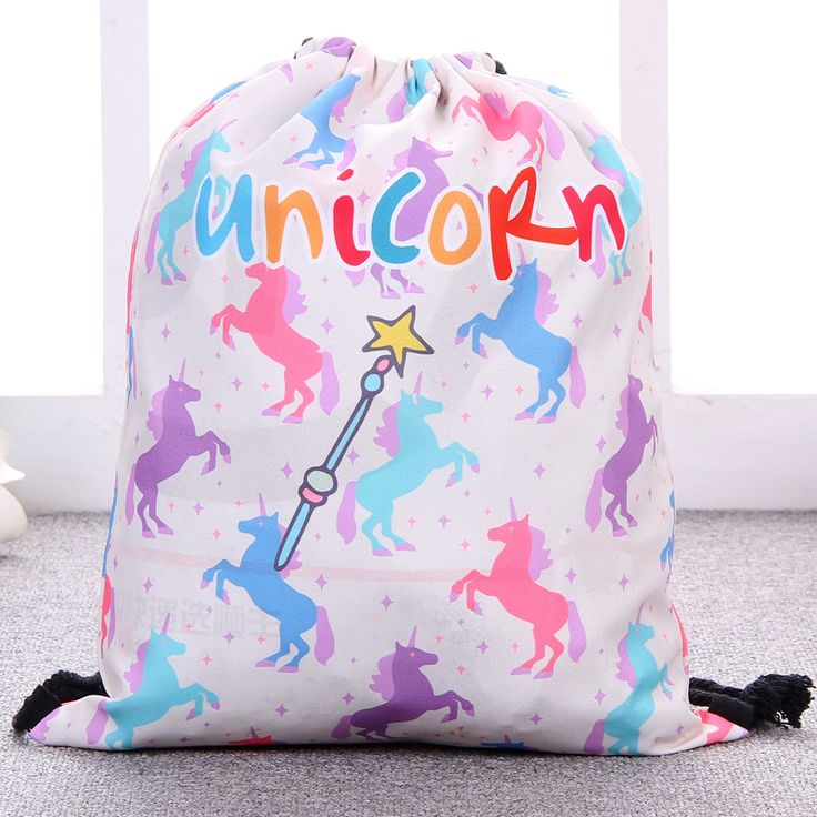 2017 New fashion Women unicorn bags gril Backpack Travel Softback Women Mochila Drawstring Bag School Girls Backpacks MORADI018