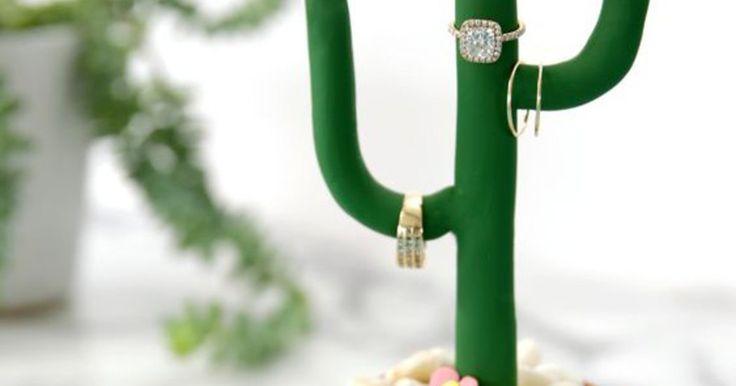 Bewaar ringen op een cactus!