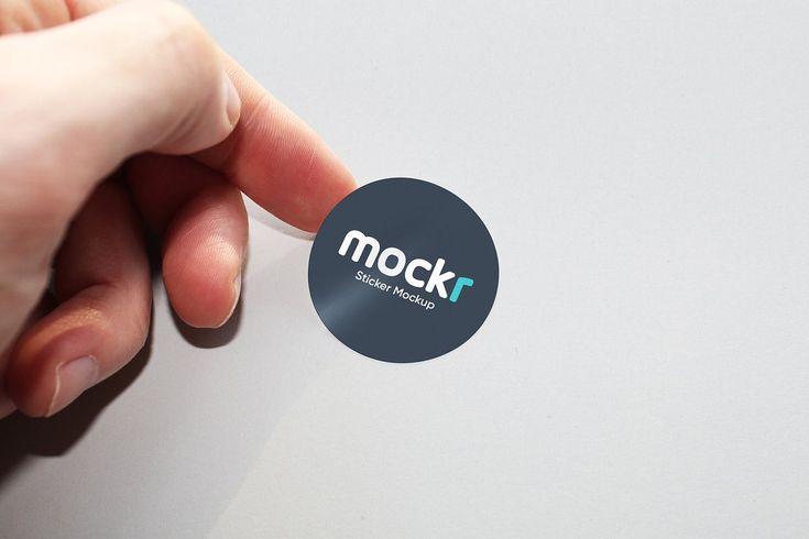 Logo Sticker Mockup Psd Mockup Psd Mockup Logo Sticker