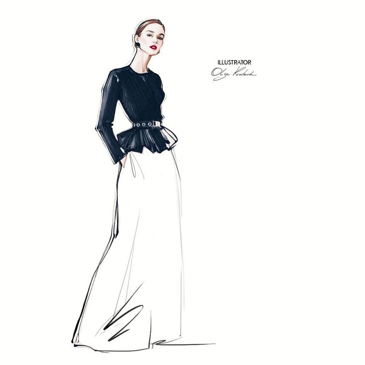 Carolina Herrera RESORT 2017 #look #fashionweek ♥️ #fashionillustrator