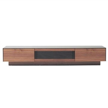 Vera Glass Top Wooden 3 Drawer 200cm TV Unit