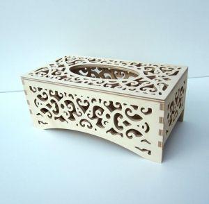 Ažúrová krabička na papierové vreckovky