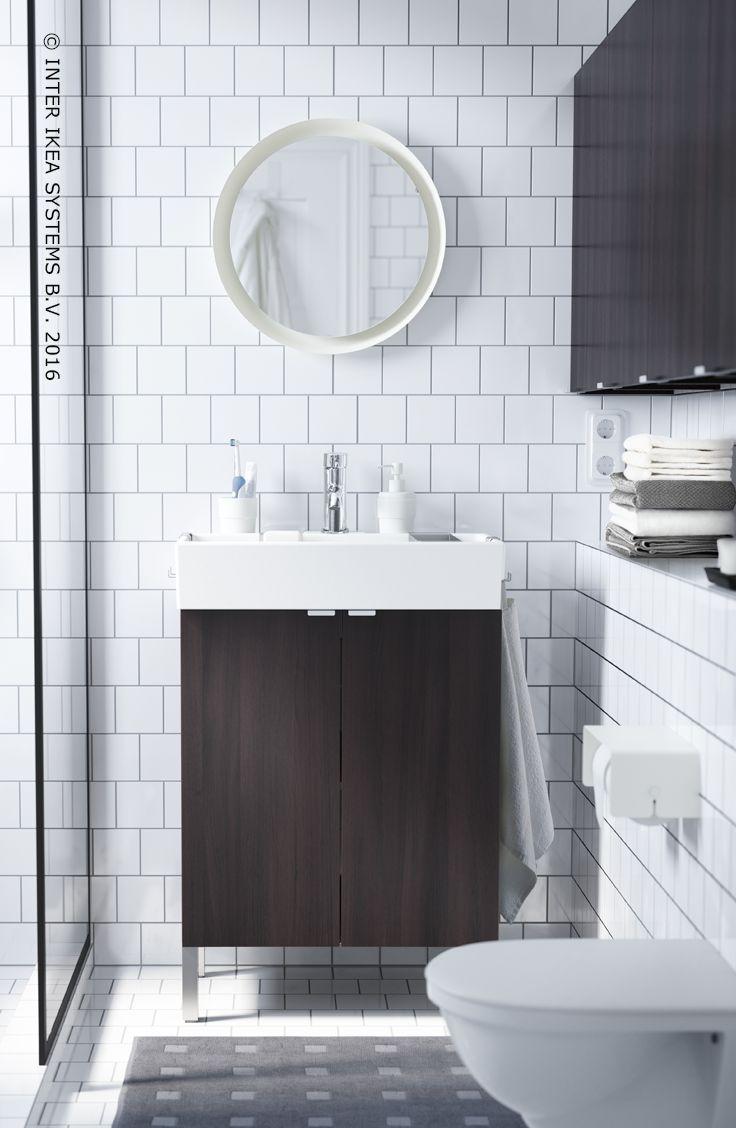 mettez votre lavabo en vidence avec un meuble aux couleurs brunnoir meuble de