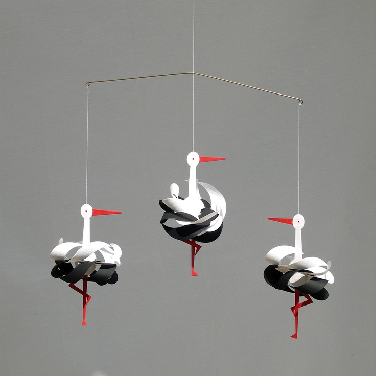 Paper Stork Mobile by Bent & Anni Knudsen