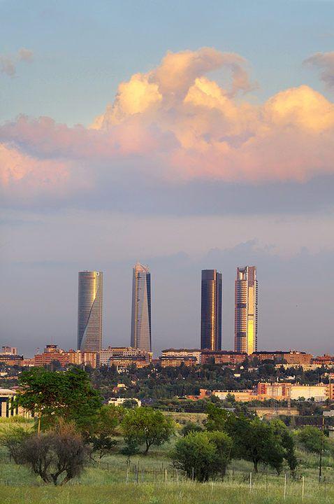 Madrid desde el los alrededores del Monte de El Pardo