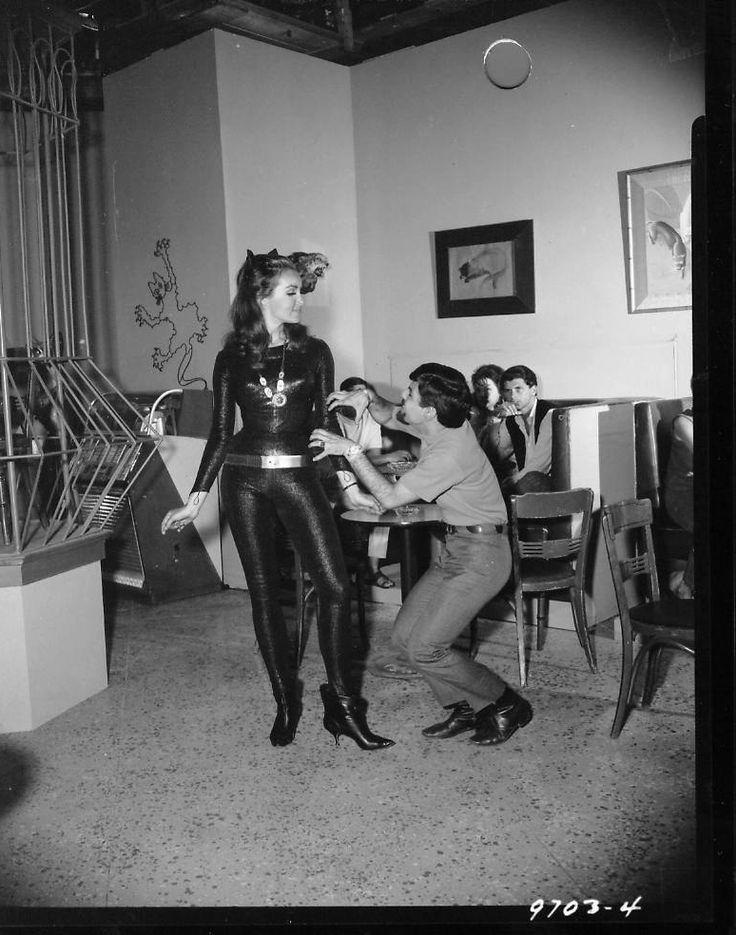 Julie Newmar. And a wanna be Catboy.Batman.